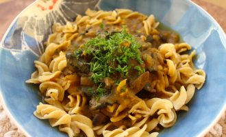Aromatic mushroom and Chickpea pasta_Small