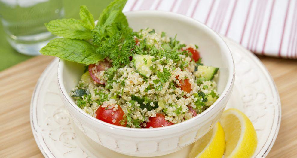 Quinoa Tabbouleh  Keywords: Food, Recipe, Vegetarian, Vegan