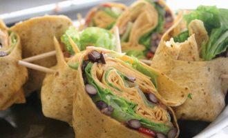Black bean and sweet potato burrito, Meatless Monday, Food Forward Culinary