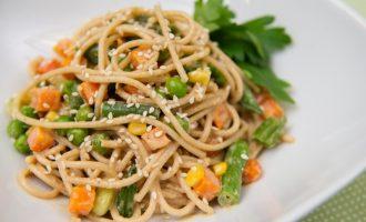 Nutty Noodles:  A noodle dish with peanut sauce