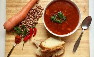 Smokey Bean Soup with Homemade Bread