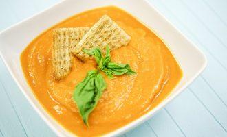 Sweet Potato Tomato Chipotle Soup Keywords: Food, Recipe, Vegetarian, Vegan